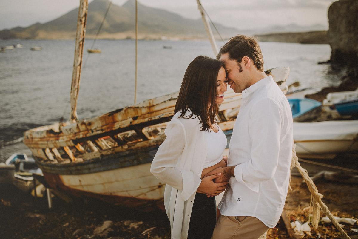 Sesión de embarazo en Almería cabo de gata